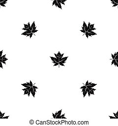 Gooseberry leaf pattern seamless black