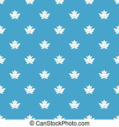 Gooseberry leaf pattern seamless blue