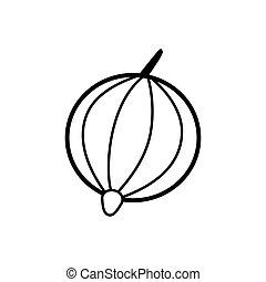 Gooseberry line icon on a white background