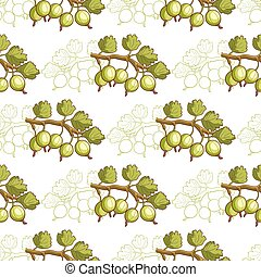 Gooseberry Seamless Pattern