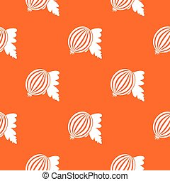 Gooseberry with leaves pattern seamless