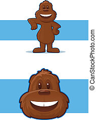 Gopher Mascot - Illustration of a smiling, furry woodland...