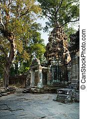"""""""Gopura"""" Left entrance pavilion tower, Preah Khan, Angkor"""