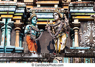 Vishnu Temple of Cochin - gopuram of Vishnu Temple of Cochin...