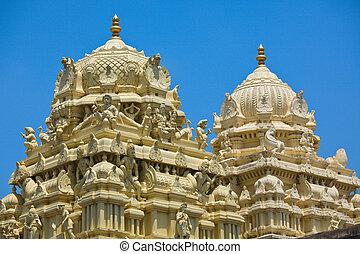 Gopuram (tower) of Hindu temple - Gopuram (tower) of ancient...