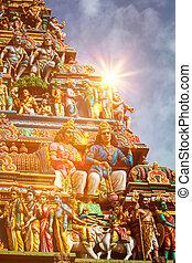 Gopuram tower of Hindu temple - Gopuram (tower) of Hindu...