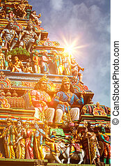 Gopuram tower of Hindu temple - Gopuram (tower) of Hindu...
