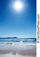 gorący, plaża