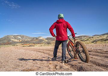 gorda, equitação bicicleta, em, colorado