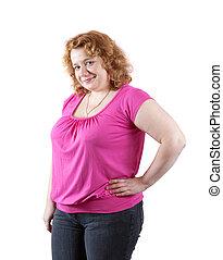 gorda, feio, mulher