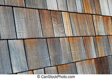 gordelroos, hout, tiled dak