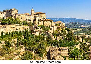 gordes, francia, meridional, medieval, aldea