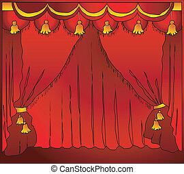 gordijn, theater