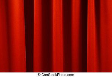gordijn, toneel, achtergrond, textuur, rood