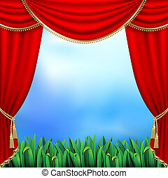 gordijnen, theater