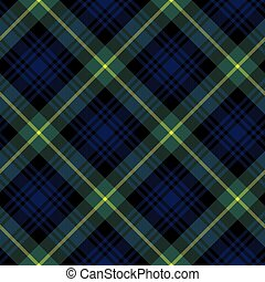gordon tartan fabric textile check pattern seamless.Vector...