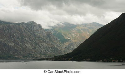 Gore Bay on sea in Montenegro in the city of Perast