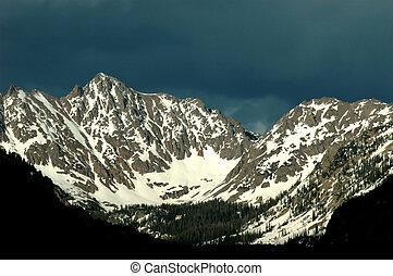Gore Range - landscape of the Gore Mountain Range as seen...