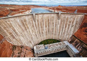gorge, barrage, page, arizona