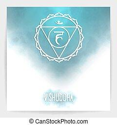 gorge, chakra, cinquième, -, vishuddha.