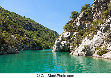 Gorge du Verdon canyon river in south of France