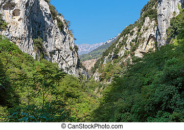 Gorge in the Alpes-Maritimes, France