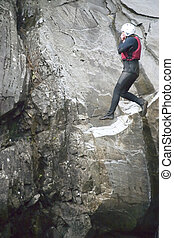 Gorge Jumpers 9 - A group of athletic gorge jumpers leaping...