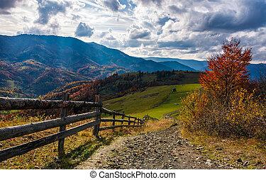 gorgeous autumn countryside mountain landscape - beautiful...