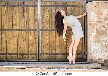 Gorgeous ballet dancer performing