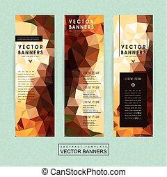 gorgeous banner template set design