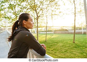 Gorgeous beautiful young asian sports woman