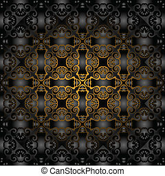 Gorgeous black gold pattern May be used as background