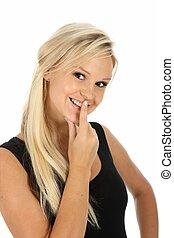 Gorgeous Blond Woman Smile
