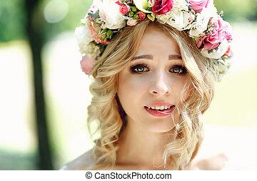 Gorgeous blonde smiling
