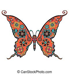 gorgeous butterfly coloring