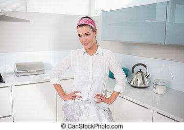 Gorgeous charming woman posing