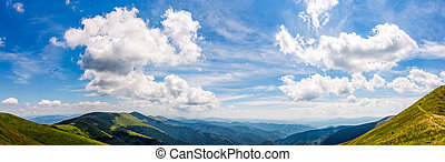 gorgeous cloudscape over the mountain ridge tops. amazing...