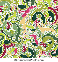 Gorgeous colorful seamless paisley pattern