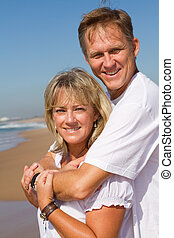 gorgeous couple on beach