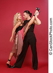 Gorgeous dancers - Gorgeous couple dancing argentine tango