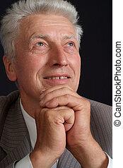 Gorgeous elderly man in suit