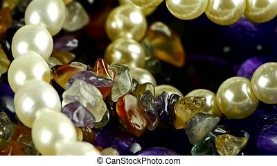 gorgeous gemstones jewelry, pearl necklace.