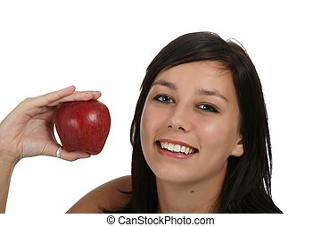 Gorgeous Girl with Apple