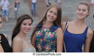 Gorgeous girls models having fun