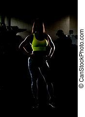 Gorgeous Latin Woman Posing In The Gym
