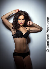 Gorgeous model advertises trendy lacy lingerie - Gorgeous...
