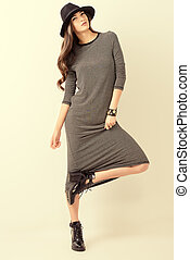gorgeous model - Studio shot of a magnificent young woman in...