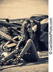 gorgeous motorbiker