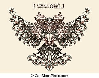 Gorgeous Owl Coloring Page In Exquisite Style Wise