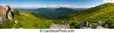 gorgeous panoramic landscape on Runa mountain. summer...